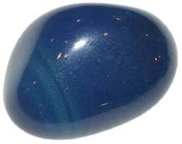 Agate bleue pierre roulée