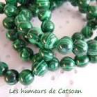 Collier pierres de synthèse vertes et blanches