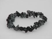 Obsidienne étoilée, mouchetée ou flocons de neige bracelet