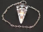 Pendule à facettes Cristal de Roche