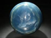 Calcite Bleue sphère polie
